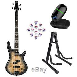 Ibanez GSR200 GIO 4-String Electric Bass Guitar Natural Gray withStand, tuner&Pick