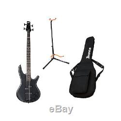 Ibanez GSR200B Weathered Black 4 String Bass Guitar with Gig Bag and Tuner