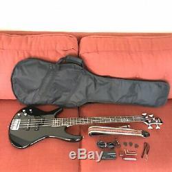 Ibanez GSR200L Left Handed 4 String Bass Guitar Black Bundle Bag Auto Tuner Etc