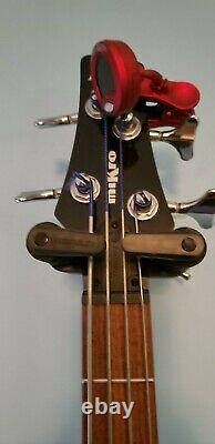 Ibanez GSRM20 Mikro 4-String Bass Guitar Transparent Red with custom knobs