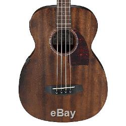 Ibanez PCBE12MH Acoustic-Electric Bass Guitar w. Cloth, Picks, Tuner and Stand