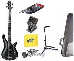 Ibanez SR Series Iron Pewter SR300EIP Electric Bass Guitar withGigbag, Tuner+More