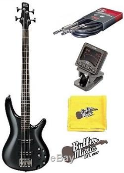 Ibanez SR Series Iron Pewter SR300EIP Electric Bass Guitar withTuner + More