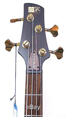 Ibanez SR1400E Premium Series Bass Guitar Dark Rose Flat with TUNER CABLE & STRAP