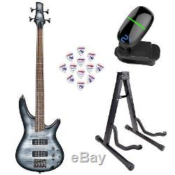 Ibanez SR300E SR Series Electric Bass Guitar Black Planet withStand, Tuner Πck