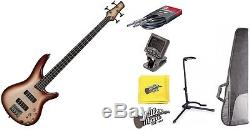 Ibanez SR300ECCB Champagne Burst Electric Bass Guitar with Tuner, Gigbag + More