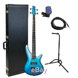 Ibanez SR300EOFM Bass Guitar Gold Pack With Hard Case, Stand, Tuner, Cable