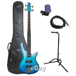 Ibanez SR300EOFM Bass Guitar Value Pack Deluxe Bag, Stand, Tuner, Cable