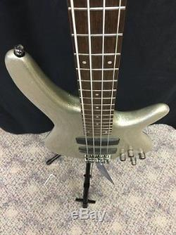 Ibanez SR300SVP Bass Guitar With Free Tuner And Strap. Silver Sparkle