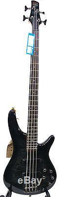 Ibanez SR400QM Bass Guitar Transparent Gray Burst INLCUDES TUNER CABLE & STRAP