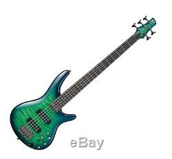 Ibanez SR405EQM 5-String Bass Guitar FREE Deluxe Bag, Stand, Cable, Tuner