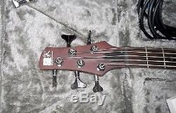 Ibanez SR505 Electric 5 String Bass Guitar Hard Case Chromatic Tuner TU-3 Cables