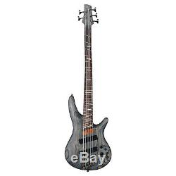 Ibanez SRFF805 5 String Electric Bass Guitar Package with Tuner & Cable Bundle