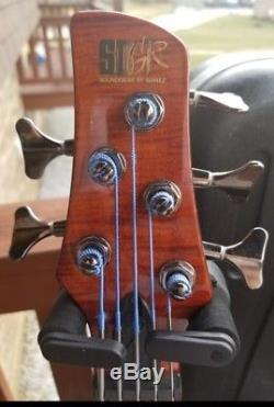 Ibanez SRT805DX Bass With Original Case & Behringer Chromatic Tuner
