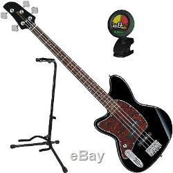 Ibanez TMB100LBK Left Handed 4 String Black Electric Bass Guitar with Tuner a