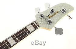Ibanez TMB310 Talman Silver Sparkle 4-string Electric Bass AS IS Broken Tuner