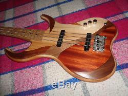 J. Mroz Handbuilt Custom Electric Bass Fancy Woods Schecter Tuners Very Cool