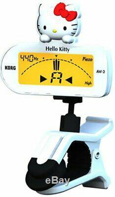KORG CLIP-ON TUNER Hello Kitty version Guitar & Bass white AW-2GKW