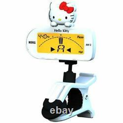 KORG Guitar Bass CLIP-ON TUNER AW-2GKW Hello Kitty version White Audio equipment