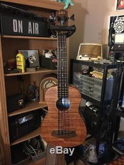 Kala UBASS-EM-FS Exotic Mahogany Fretted Ukulele Bass & Gig Bag Active EQ Tuner