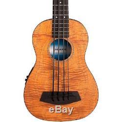 Kala UBASS-EM-FS Exotic Mahogany Fretted Ukulele Bass with Bag Active EQ Tuner