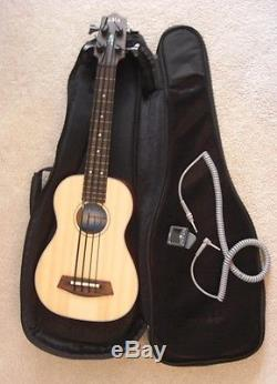 Kala UBASS Fretless Spruce Top withGig Bag, Tuner, & Coiled Cord