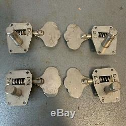 Kluson 538 Bass Tuners 1960's Chrome for Gibson Epiphone Rickenbacker Guild