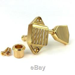 Kluson Gold 3x3 Waffleback/Tulip Tuners for Vintage Gibson Guitar SK900SLG/M