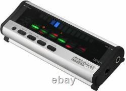 Korg PB-04 Tuner Pitchblack Portable Polyphonic Guitar & Bass (Silver) PB04