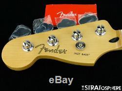 LEFTY Fender Player Jazz BASS NECK & TUNERS Bass Guitar Parts, Modern C Maple