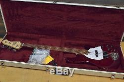 Lakland 44-94 Classic Burgundy Translucent D-Tuner 4-String Bass with Case #796