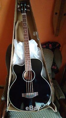 Left Handed Electro Acoustic 4 String Bass Guitar, Jumbo Large Scale, Tuner