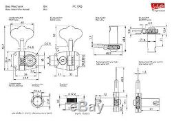 MECA SCHALLER BASSE F-serie BMF-Aged Reverse G/D P-J BASS TUNERS LeftRight RELIC