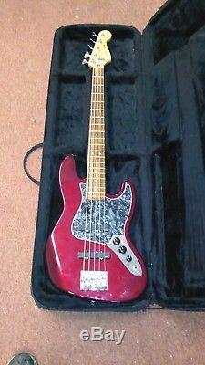 MIM Fender Jazz V bass, upgraded EMG pickups, Gotoh tuners, Schaller bridge
