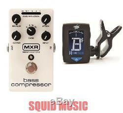 MXR Dunlop M87 Bass Compressor Bass Effects Pedal (FREE GUITAR TUNER) M-87