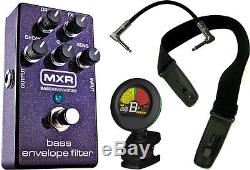 MXR M82 Bass Guitar Envelope Filter Pedal withCable, Tuner, and Locking Strap