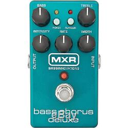 MXR M83 Bass Guitar Chorus Deluxe Pedal withCable, Tuner, and Locking Strap