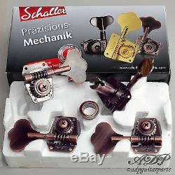 Mecaniques Schaller Basse BM Reverse L/R P-J Bass MusicMan Tuners Vintage Copper