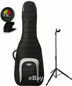 Mono M80-EB-BLK-U Jet Black Single Bass Case Bundle withStand and Tuner