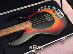 Musicmam Fretless Stingray Bass with Piezo Pickups and Hipshot D-Tuner