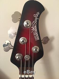 Musicman Stingray Candy Apple Sparkle With Matching Headstock & Hipshot Tuner