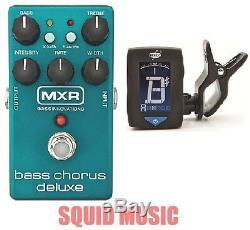 Mxr Dunlop Bass Chorus Deluxe Pedal M83 (free Dunlop Clip On Guitar Tuner)