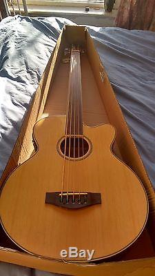 NEW 5 String Fretless Electro/Acoustic Bass Guitar Large Scale Built-in Tuner