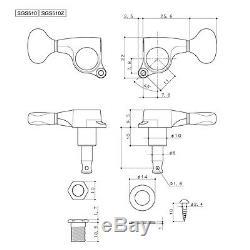 NEW GOTOH SGS510Z-A20LX Luxury Mode L3+R3 3x3 Mini Tuners Keys 118 Ratio GOLD