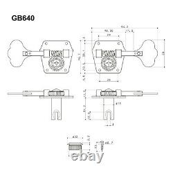 NEW Gotoh GB640 Super Light Weight 4-String Bass Guitar Tuning Machine X-NICKEL
