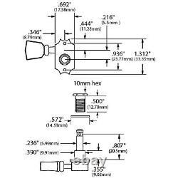 NEW Kluson Revolution Locking Tuners Pearloid Keystone Buttons 3x3 Set NICKEL