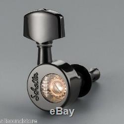 NEW Schaller 3x3 Da Vinci Tuners, Pin Mount Keys BLACK 181 Les Paul SG Gibson