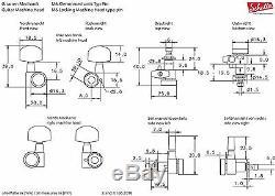 NEW Schaller M6 Locking Tuners, Pin Mount 6 In-Line SATIN CHROME Tuning Keys