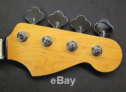 NICE! Electric Bass Guitar ROSEWOOD NECK w TUNERS fits Fender Precision P-Bass