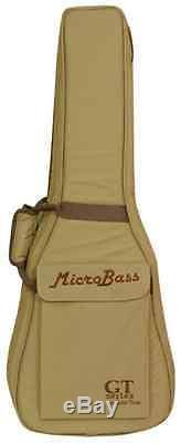 New! Gold Tone Micro Bass with Bag Built-in Piezo Transducer with Electronic Tuner